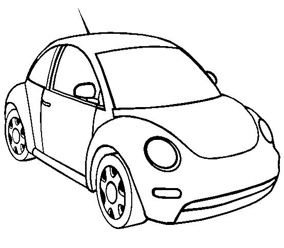 Coloriage et dessins gratuits Petit Automobile Volkswagen à imprimer