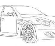 Coloriage et dessins gratuit Un Automobile BMW à imprimer