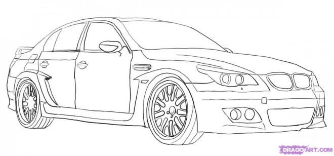 Coloriage et dessins gratuits Un Automobile BMW à imprimer