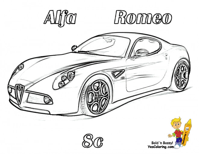 Coloriage et dessins gratuits Voiture Alfa Romeo Sc à imprimer