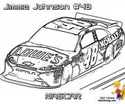 Coloriage et dessins gratuit Voiture de course de Nascar à imprimer