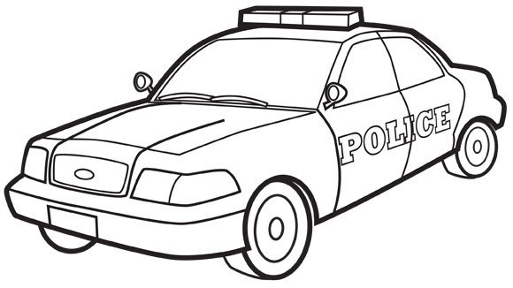 Coloriage Voiture De Police Dessin Gratuit 224 Imprimer