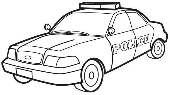 Coloriage voiture de police dessin gratuit imprimer - Dessin voiture de police ...