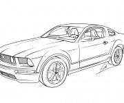 Coloriage et dessins gratuit Voiture Jaguar de sport à imprimer
