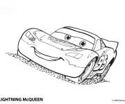 Coloriage et dessins gratuit Voiture Mcqueen dessin animé à imprimer