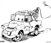 Coloriage et dessins gratuit Auto de remorquage Mater à imprimer