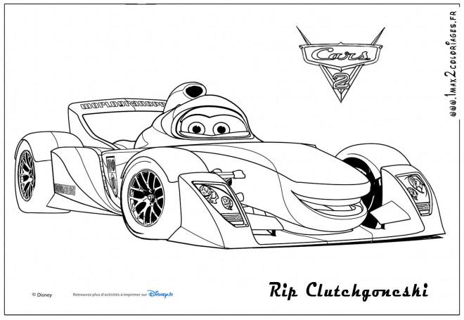 Coloriage et dessins gratuits Auto de sport Rip Clutchgoneski à imprimer