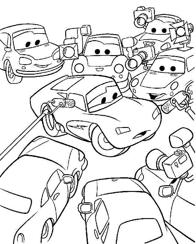Coloriage et dessins gratuits Auto Flash Mcqueen populaire à imprimer