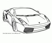 Coloriage et dessins gratuit Auto Lamborghini en ligne à imprimer
