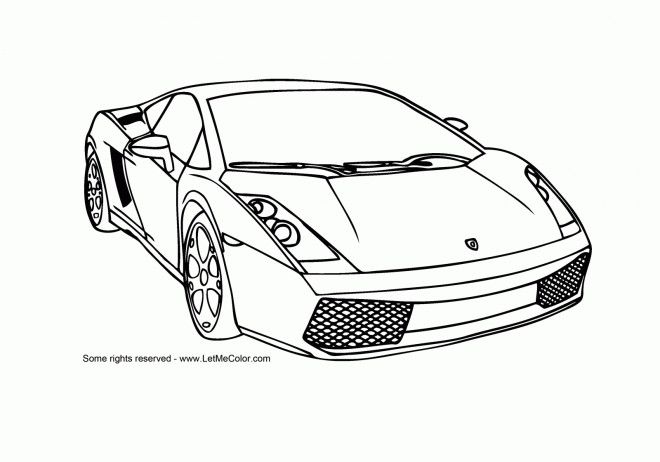 Coloriage et dessins gratuits Auto Lamborghini en ligne à imprimer