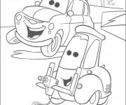 Coloriage et dessins gratuit Autos Disney à imprimer