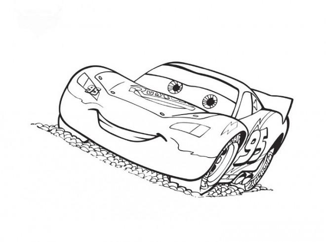 Coloriage et dessins gratuits Autos Flash Mcqueen à découper à imprimer