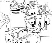 Coloriage et dessins gratuit Autos Flash Mcqueen série à imprimer