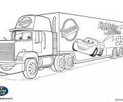 Coloriage et dessins gratuit Camion Mack Disney à imprimer