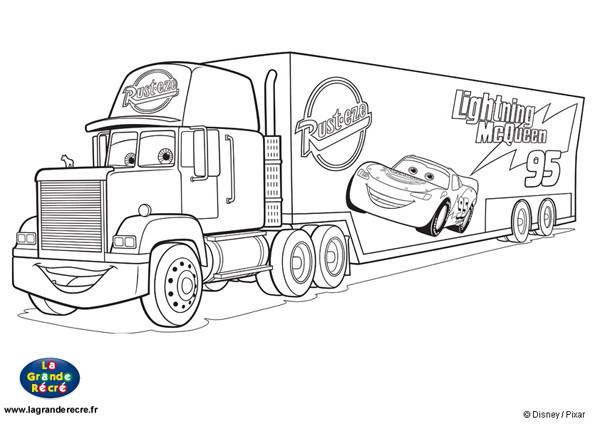 Coloriage camion mack disney dessin gratuit imprimer - Coloriage mcqueen a imprimer ...