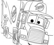 Coloriage Camion Mark avec visage