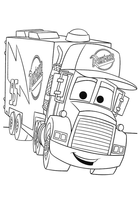 Coloriage et dessins gratuits Camion Mark avec visage à imprimer