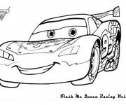Coloriage et dessins gratuit La Voiture Flash souriant à imprimer