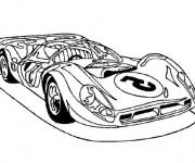 Coloriage Un Automobile de luxe de sport