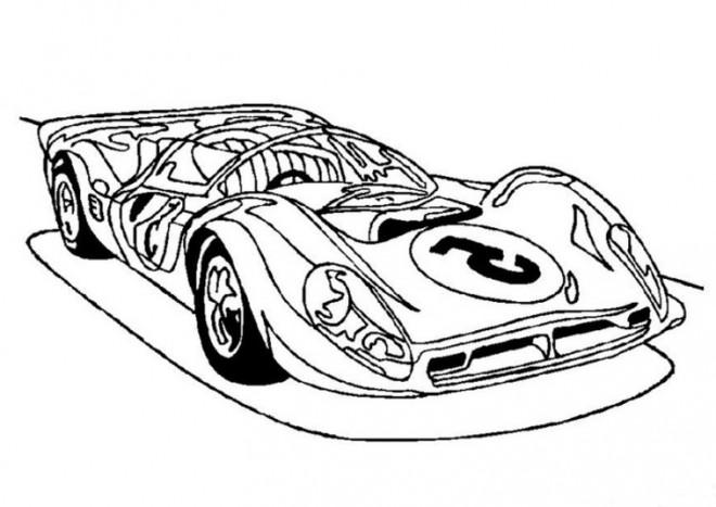 Coloriage et dessins gratuits Un Automobile de luxe de sport à imprimer