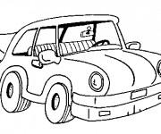 Coloriage Une petite voiture en ligne
