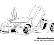 Coloriage et dessins gratuit Voiture Lamborghini Aventador à imprimer