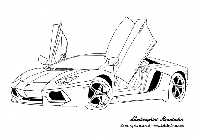 coloriage voiture lamborghini aventador dessin gratuit  u00e0 imprimer