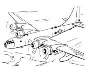 Coloriage et dessins gratuit Avion à quatre moteurs à imprimer