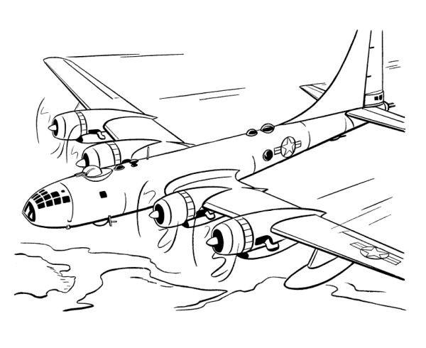 Coloriage et dessins gratuits Avion à quatre moteurs à imprimer