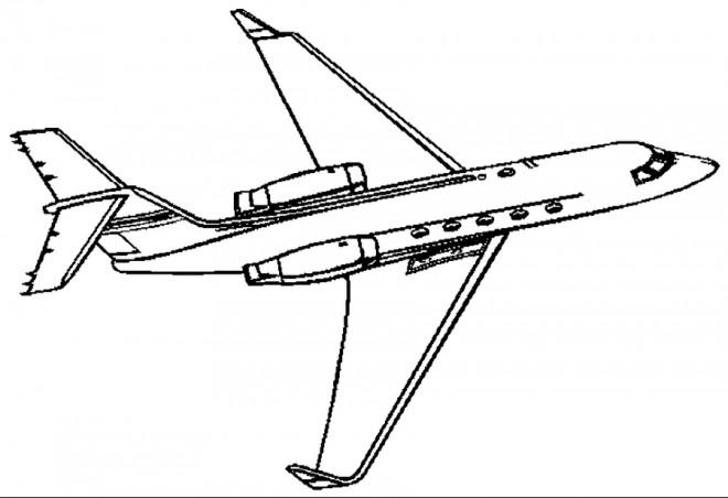 Coloriage et dessins gratuits Avion Civile en ligne à imprimer