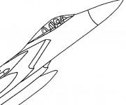 Coloriage et dessins gratuit Avion de Chasse facile à imprimer