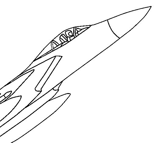 Coloriage avion de chasse facile dessin gratuit imprimer - Dessin d avion facile ...