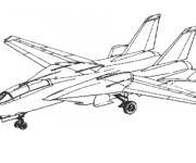 Coloriage et dessins gratuit Avion de Chasse maternelle à imprimer