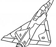 Coloriage et dessins gratuit Avion de Chasse Mirage 2000 à imprimer