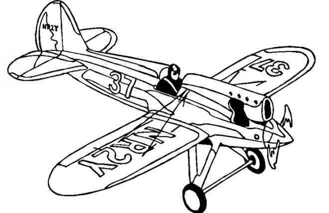 Coloriage et dessins gratuits Avion de Chasse NR2Y à imprimer