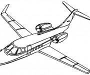 Coloriage et dessins gratuit Avion de Chasse rafale à imprimer