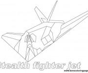 Coloriage Avion de Chasse Stealth Fighter