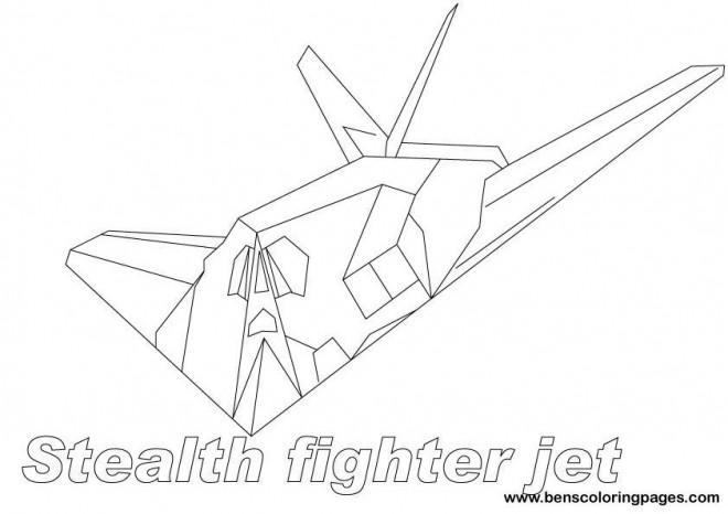 Coloriage et dessins gratuits Avion de Chasse Stealth Fighter à imprimer