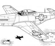 Coloriage et dessins gratuit Avion de Chasse sur ordinateur à imprimer