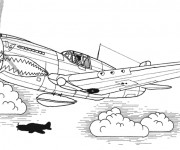Coloriage Avion de Chasse Tigershark