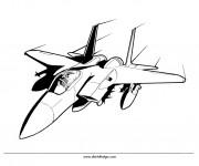 Coloriage et dessins gratuit Avion de Chasse vectoriel à imprimer