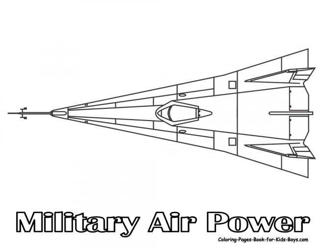 Coloriage et dessins gratuits Avion de force militaire à imprimer