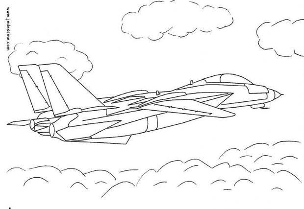 Coloriage Avion Militaire En Action Dessin Gratuit A Imprimer