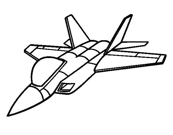 Coloriage dessin d 39 avion de chasse dessin gratuit imprimer - Dessin avion stylise ...