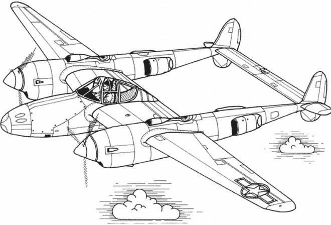 Coloriage et dessins gratuits Illustration d'un Avion ancien à imprimer