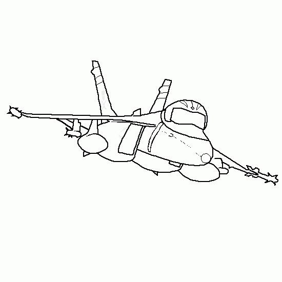 Coloriage et dessins gratuits Portrait d'avion de Chasse à imprimer