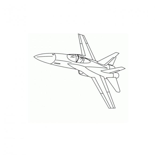 Coloriage et dessins gratuits Avion de chasse couleur à imprimer
