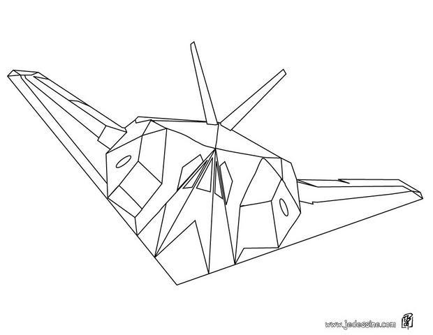 Coloriage et dessins gratuits Avion de Chasse Fantôme à imprimer