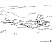 Coloriage Avion de Chasse FF