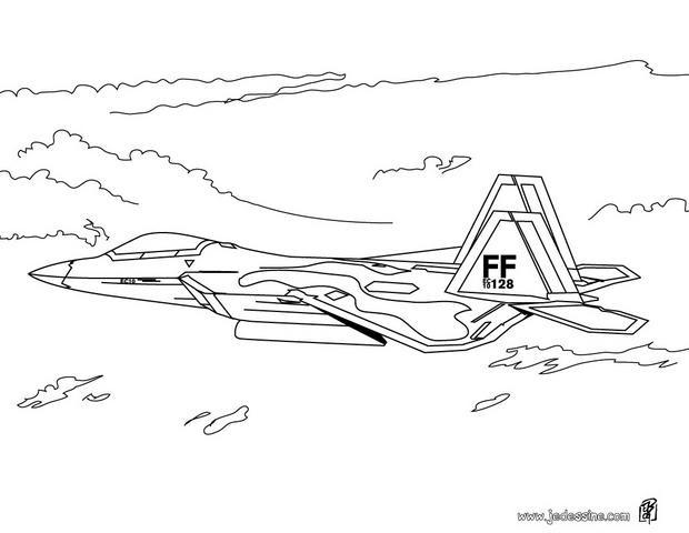 Coloriage et dessins gratuits Avion de Chasse FF à imprimer